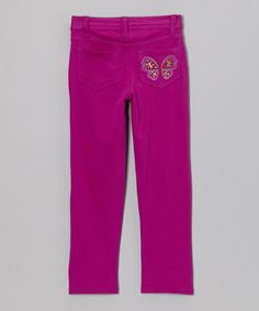 This Violet Rhinestone Skinny Jeans - Toddler & Girls is perfect! #zulilyfinds