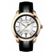 Dreyfuss Gents Automatic Black Leather Strap Watch