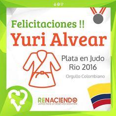 Felicitaciones yuri #plata #rio2016 #yudo #juegosolimpicos #co #colombia…