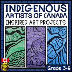 Indigenous Artists of Canada Inspired Art Projects by Brain Ninjas Primary School Art, Middle School Art, Art School, School Daze, Aboriginal Education, Art Education, Aboriginal Art, 3rd Grade Art, Grade 2