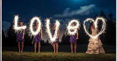 12 fotografías que te convencerán para usar bengalas en tu boda