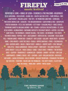 Firefly Music Festival 2016 Lineup | June 16-19 | Dover, DE