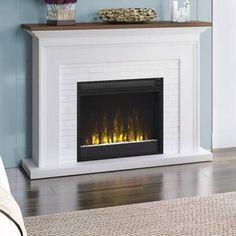 Millwood Pines Shiela Fireplace Shelf Mantel & Reviews   Wayfair Fireplace Mantel Surrounds, Fireplace Shelves, Stove Fireplace, Fireplace Ideas, Farmhouse Fireplace, Faux Fireplace, Fireplace Frame, Fireplace Furniture, Fireplace Remodel