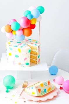 DIY Balloon Garland Cake Topper and Tips for Painting Frosting - Let's party! - DIY Balloon Garland Cake Topper & Tips for Painting Frosting Balloon Cake, Balloon Garland, Balloons, Balloon Cupcakes, Balloon Party, Balloon Ideas, Cute Cakes, Pretty Cakes, Beautiful Cakes