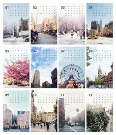 2015 A Year of NY Calendar Photography Calendar by SweetFineDay