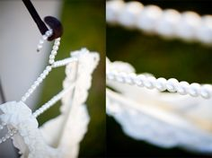 Pearl wedding hanger, cute idea!