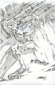 Superman by Jimbo Salgado Dc Comics, Action Comics 1, Comic Book Artists, Comic Books Art, Comic Art, Superman Art, Batman, Superman Stuff, Drawing Superheroes