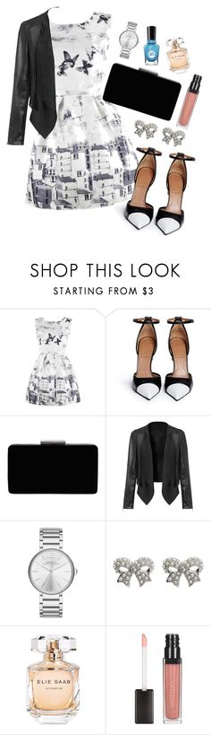 """Untitled #550"" by cupcakes077 ❤ liked on Polyvore featuring Givenchy, John Lewis, Marc Jacobs, M&Co, Elie Saab and Sally Hansen"