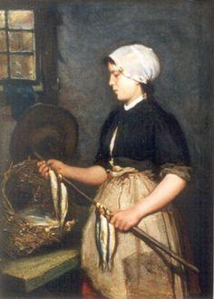 Bernardus Johannes Blommers (Den Haag 1845-1914) Het roken van de vis - Kunsthandel Simonis en Buunk, Ede (Nederland).