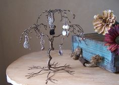 Jewelry Tree Display Stand, Earring Holder and Organizer