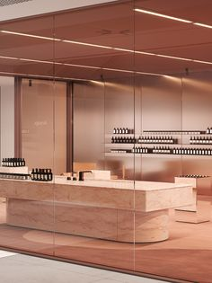 Aesop store design concept in the shopping mall. Retail Interior Design, Retail Store Design, Commercial Design, Commercial Interiors, Aesop Shop, Retail Facade, Jewelry Store Design, Cafe Concept, Restaurants