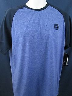 Mens Tee Shirt XLSolid Blue ENYCE Sean Combs Co New York Cotton Blend NWT