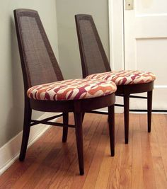 Pair of 1960s Mod Dining Chairs