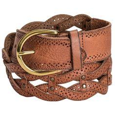 Danbury Braided Leather Belt (For Women) [YW66018469] - $16 :