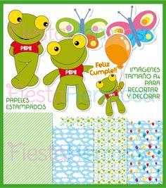 Sapo Pepe dibujos para imprimir de cumpleaños http://www.fiestahermosa.com.ar/kit-imprimible-sapo-pepeinvitacionesgolosinascompleto-23xJM