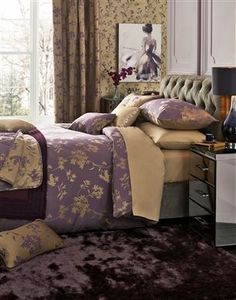 Buy Plum And Gold Jacquard Bed Set from the Next UK online shop