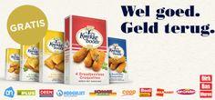 Geniet nu kosteloos van het heerlijke Kwekkeboom assortiment. Wel goed. Geld terug.  Ga naar de supermarkt. Koop één van de Kwekkeboom delicatesse snacks en krijg het aankoopbedrag terug via www.kwekkeboom.nl/actie.