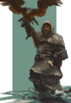 """Orell by Onkeljoe. """"Can a bird hate? Jon had slain the wildling Orell, but some part of the man remained within the eagle. The golden eyes looked out on him with cold malevolence."""""""