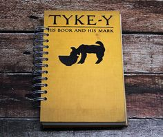 Recycled book journal - Tyke-Y - blank journal notebook gift for dog owners