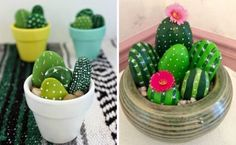 Painted Cactus Rocks Are An Easy DIY You'll Love | The WHOot