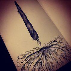 fountain pen tattoo idea
