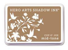*Hero Arts Shadow Ink Pad CUP O' JOE Mid-Tone 2012 AF214