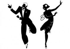 Illustration about Vector silhouette of a couple dancing the Charleston, EPS no white objects. Illustration of social, gatsby, lifestyle - 55576828 Danse Charleston, Dancing Couple Silhouette, Dancing Drawings, Silhouette Clip Art, Dance Silhouette, Swing Dancing, Dance Photos, Dance Images, Art Graphique