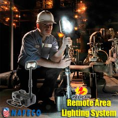 Pelican 9490 Remote Area Lighting System, 6K Lumens: Features up to 6,000 lumens (calculated), up to 24 hrs of run time. Intelligent Control (allows or various light output levels). Maintenance free LED array with 50,000 hour life expectancy. Built Pelican Tough & Tested. Full time battery level indication with low level flashing indicator. Deployable 6 feet mast with 340 degree rotation. Multiple deployment positions.