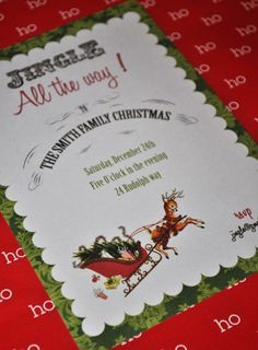 FREE Christmas Party Printables from Serendipity Soiree