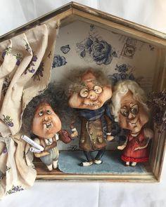 Домик с семейством #2!!супер подарок #оленавербець #авторскаякукла #творчествобезграниц #подарок # текстильнаякукла