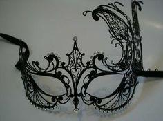 Black Venetian masquerade mask.