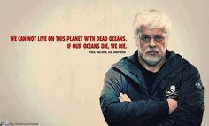 """Paul Watson, Sea Shepherd- """"...if our oceans die, we die."""""""