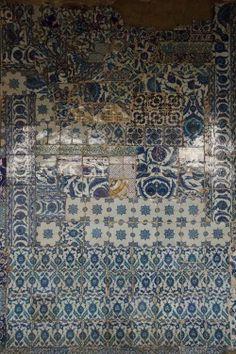 Iznik tiles at the Rüstem Pasha Mosque in Istanbul