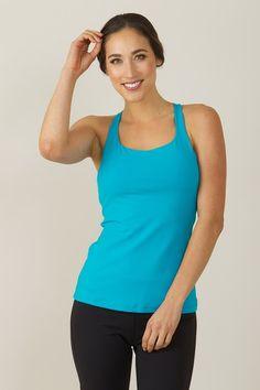 153cbab2ec518 Grace Yoga Tank (Turquoise)