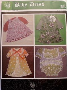 MIKI GREEN PATTERN - BABY DRESS Miki Green's pattern pack- Baby Dress. Four beautiful patterns for cards or pictures which you can frame.