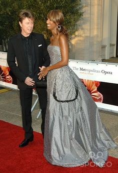 David Bowie and Iman at the 'Madama Butterfly' gala opening night at the Lincoln Center Metropolitan Opera 2006-2007 Season