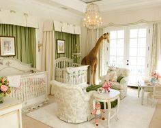 The Royal Nursery: 12 Jaw-Dropping Room Ideas for Your Prince or Princess - Alt. The Royal Nursery Nursery Twins, Nursery Room, Baby Twins, Giraffe Nursery, Baby Boy, Jungle Nursery, Animal Nursery, Nursery Themes, Playroom Design