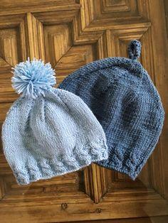 Gorro de bebé a dos agujas - Costurea Blog gorro de bebé Beanie Knitting Patterns Free, Baby Hats Knitting, Knitting For Kids, Knitting For Beginners, Knitting Designs, Knit Patterns, Free Knitting, Knitted Booties, Knitted Hats
