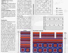 TEJIDOS CROCHET: saco con cuadrados al crochet