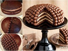 You'll love this Malteser Cake Recipe Easy Video Tutorial that shows you how to make this very popular and incredibly delicious dessert. Malteser Cake, Birthday Cakes For Women, Yogurt Cake, Cake Tins, Easy Cake Recipes, Savoury Cake, Food Gifts, Christmas Desserts, Celebration Cakes