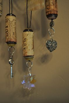 Wine Cork Ornaments. And my parents drink a lot of wine, so I can make these quick...