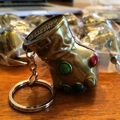 We are in full convention prep and that includes sorting loads of new products!  Thanos is going to rage when he sees you sporting these awesome Infinity Gauntlet Keychains!  So far these are convention exclusive and not listed on the site.  Visit us this weekend @palmcon2015 To get one!  #thanos #thanosrising #theinfinitygauntlet #marvel #avengers #avengersageofultron