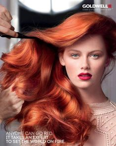 Luscious red hair. Goldwell Color Campaign 2013 #hair #goldwell #redhead #style