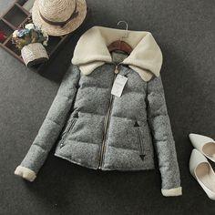 Mujer de algodón de invierno abrigo de espesamiento térmico wadded diseño corto…