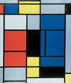Tableau No. I, 1921/1925. Piet Mondrian. TABLEAU NO. I, 1921/1925 Huile sur toile, 75,5 x 65,5 cm. Photo: Robert Bayer, Basel. Tableau No. I a été réalisé en 1921 et remanié en 1925. À cette date, un certain nombre d'éléments majeurs du langage pictural de Mondrian, alors arrivé à maturité, sont déjà définis. On peut mentionner ainsi la présence exclusive de l'angle droit et des lignes noires, ou le refus de toute symétrie. Mais ici, l'artiste admet encore le noir comme couleur de surface…