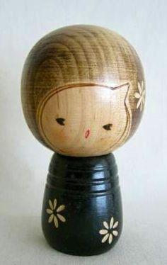 Cute vintage kokeshi