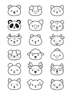 Kawaii Animals Coloring Pages. 20 Kawaii Animals Coloring Pages. Pages Coloring Marvelous Kawaii Coloring Pages to Print Panda Coloring Pages, Coloring Pages Nature, Cute Coloring Pages, Coloring Pages For Girls, Doodle Coloring, Coloring For Kids, Free Coloring, Doodles Kawaii, Cute Doodles