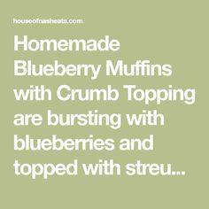 Homemade Blueberry Muffins with Crumb Topping are bursting with blueberries and topped with streusel. These really are the best blueberry muffins ever! Homemade Blueberry Muffins, Blueberry Cake, Breakfast Items, Breakfast Recipes, Baking Mixer, Diner Recipes, Banana Bread Recipes, Early Bird, Blue Berry Muffins