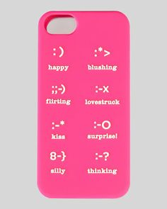 emoticons iphone 5 case, pink at CUSP.