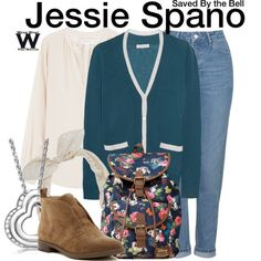 Inspired by Elizabeth Berkley as Jessie Spano on Saved By the Bell.